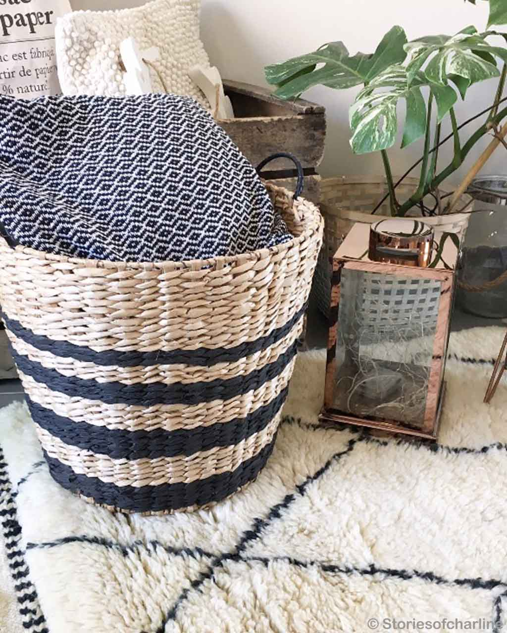 hand knotted basket of cushion berber modern beni ourain floor rugs