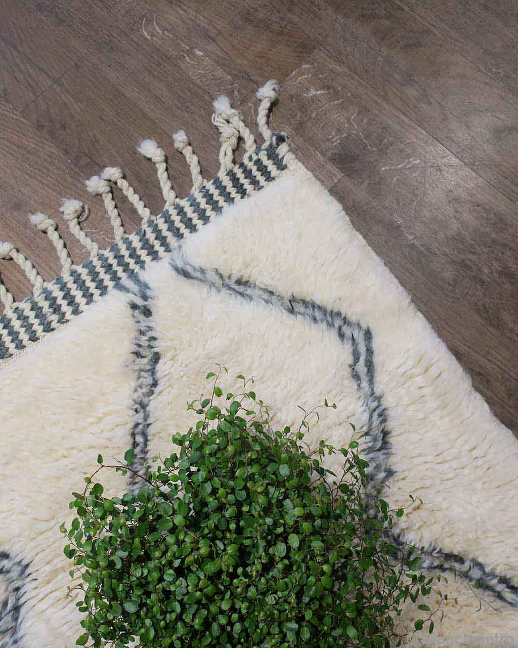 handmade nice fresh green leaves made in morocco modern small rug