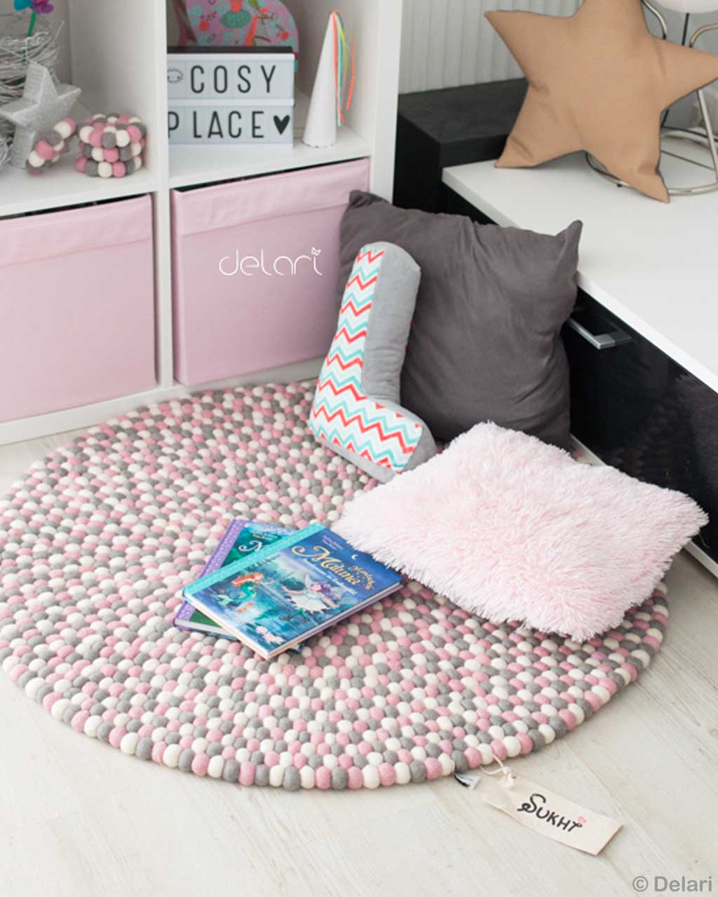 woolen star shaped pillow and cabinet from nepal modern accent rugs