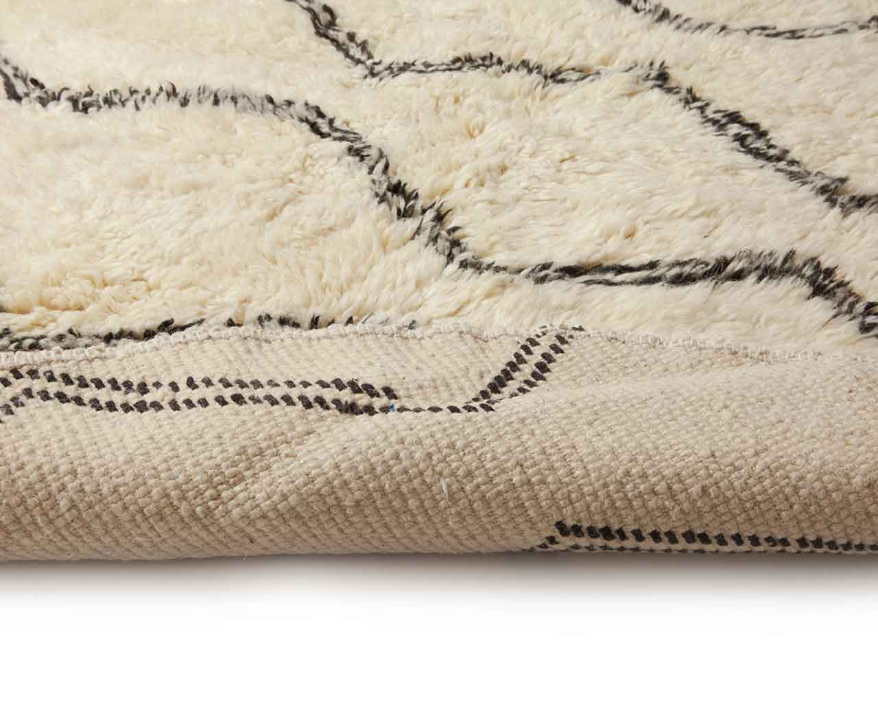 folded back rails pattern moroccan rugs 1