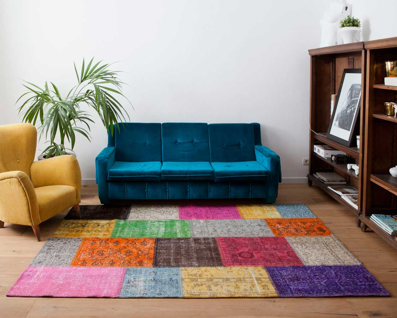 custom vintage patchwork carpet multi color