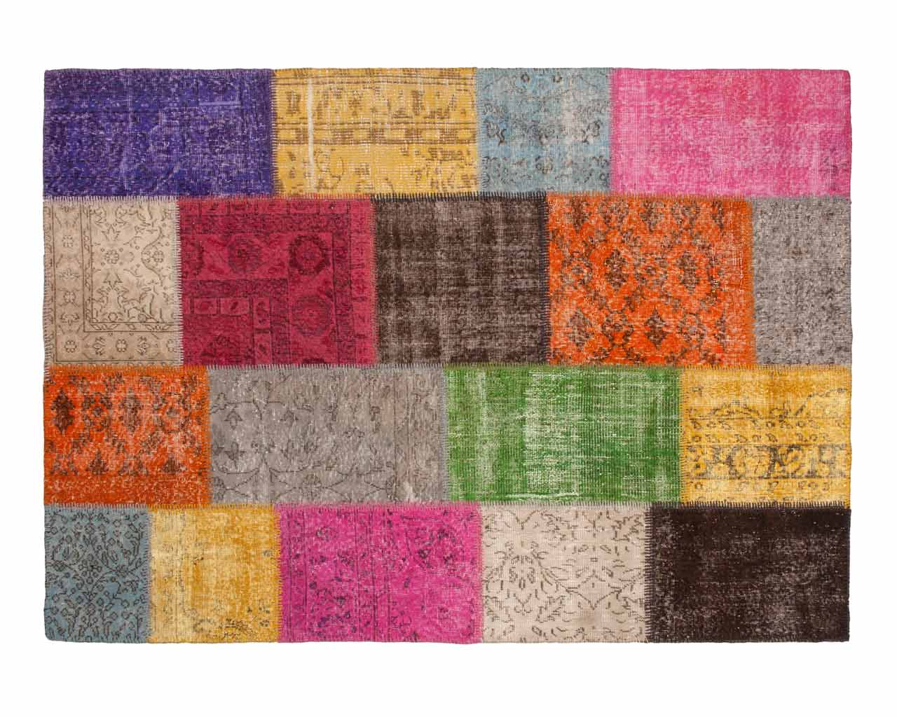 custom vintage patchwork carpet multi colour(2)