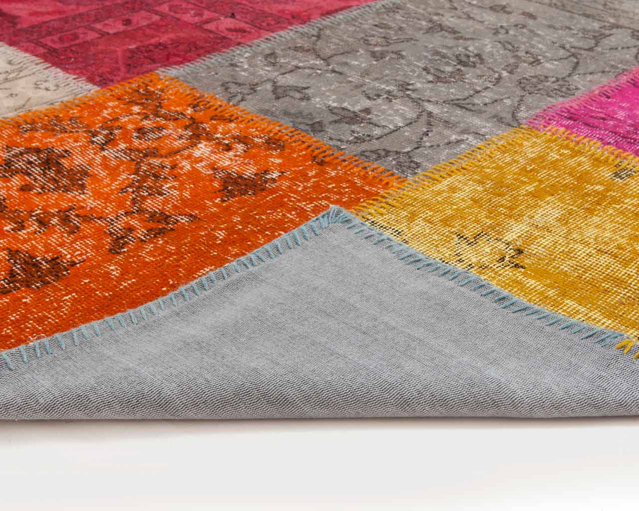 custom vintage patchwork carpet multi colour(3)