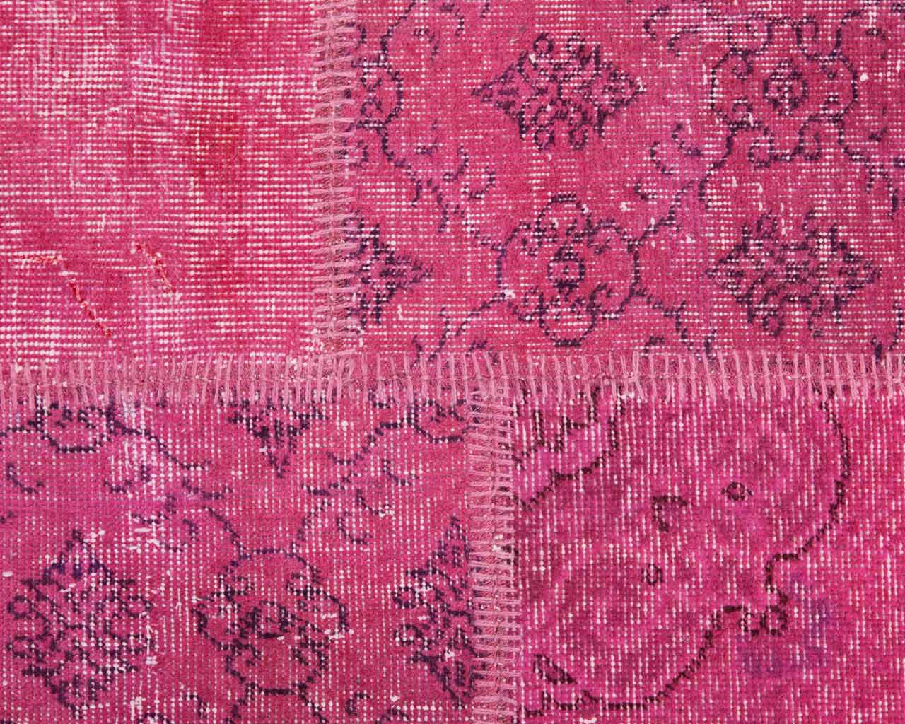 custom vintage patchwork carpet pink
