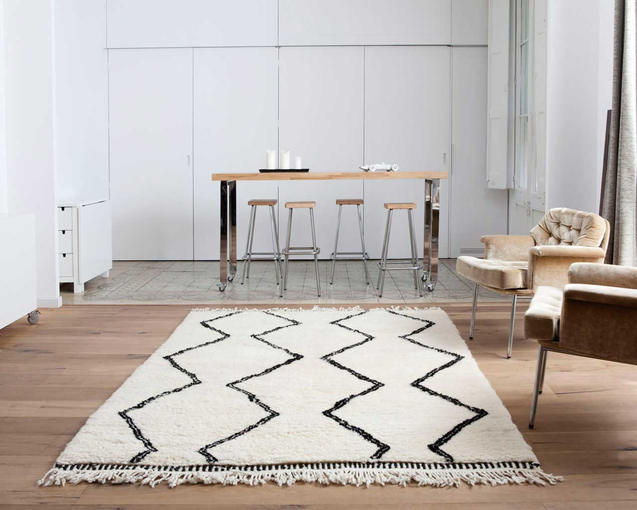 carpet rails pattern rugs