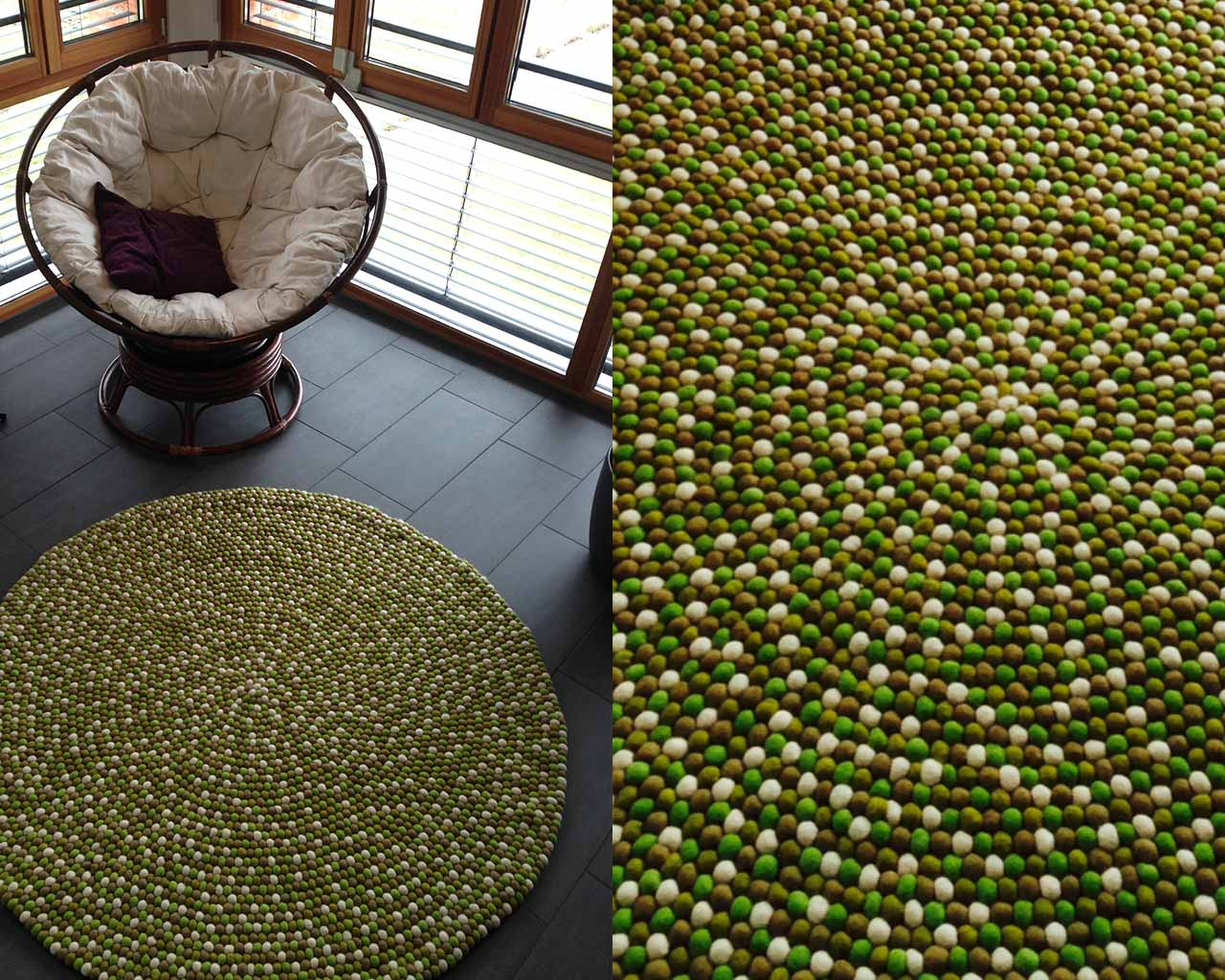 comfortable chair rug
