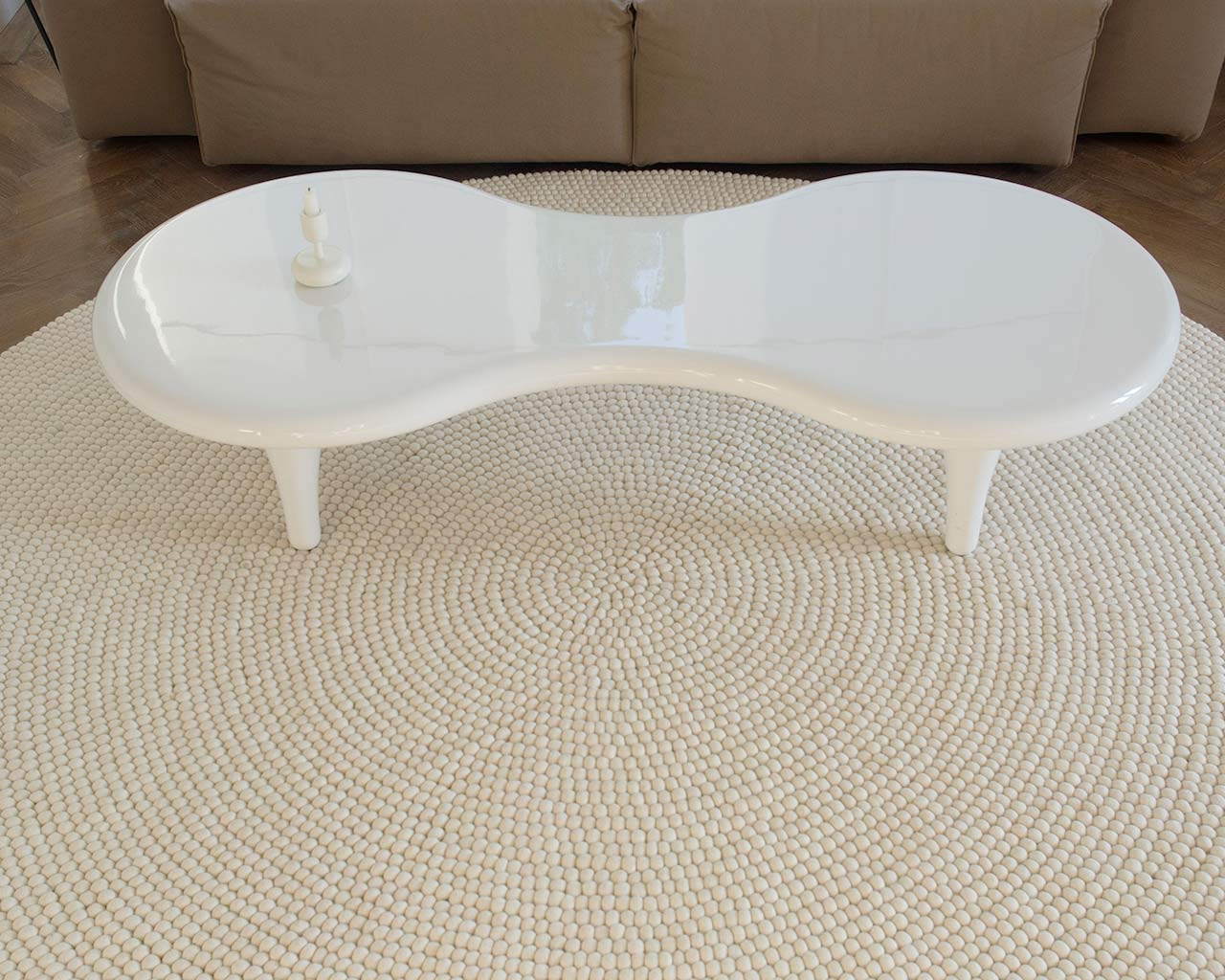 scandinavian design table rug