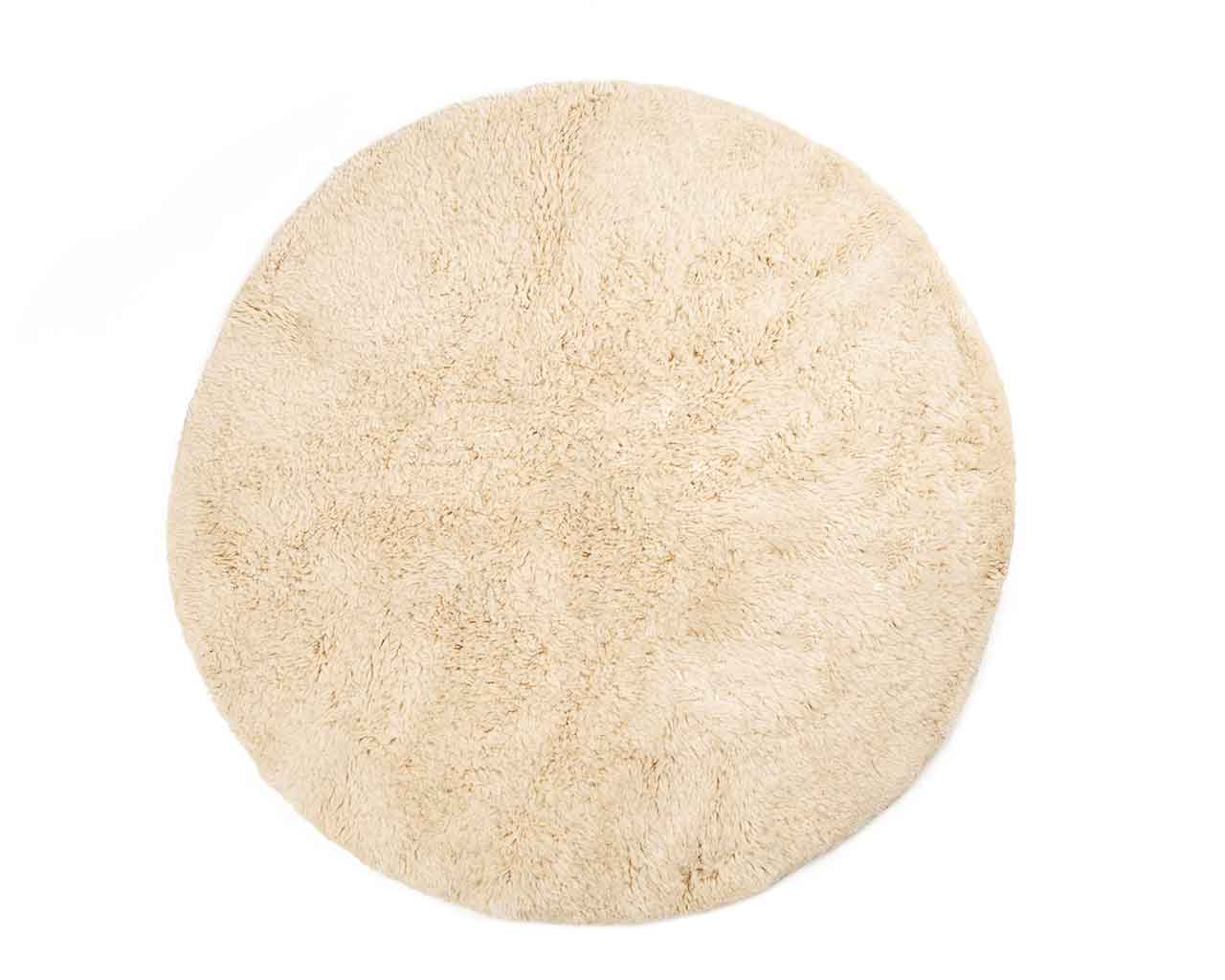 round beni ourain carpet white color 1