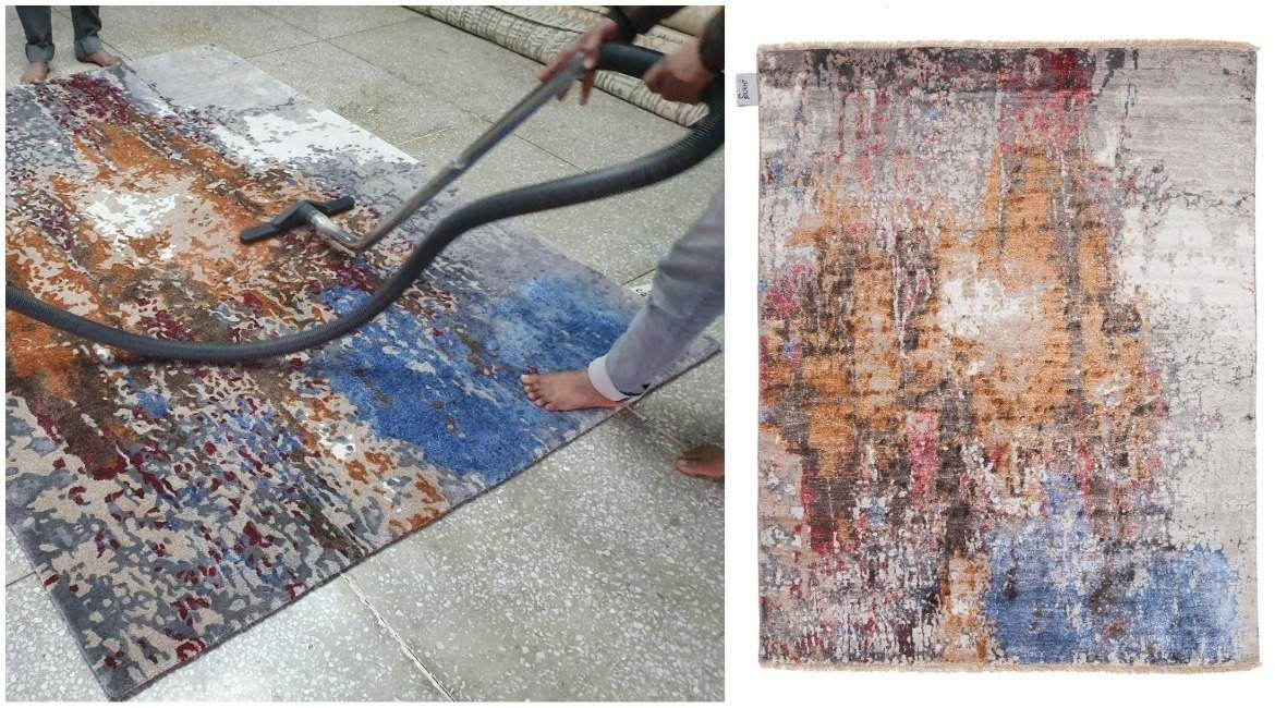 indian-rug-makers-vacuuming-modern-oriental-rug